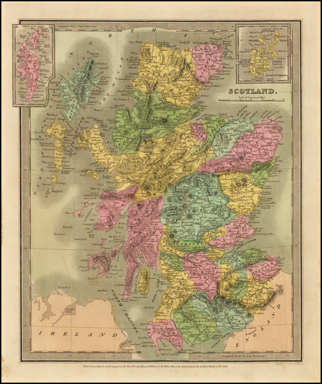 Scotland Map By David Hugh Burr