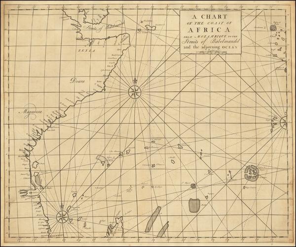 6-Indian Ocean, East Africa and African Islands, including Madagascar Map By John Senex / Edmund