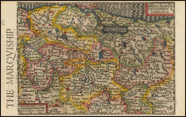 100-Germany and Baltic Countries Map By Henricus Hondius - Gerhard Mercator
