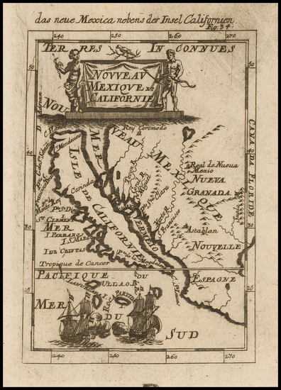 1-Baja California and California Map By Alain Manesson Mallet