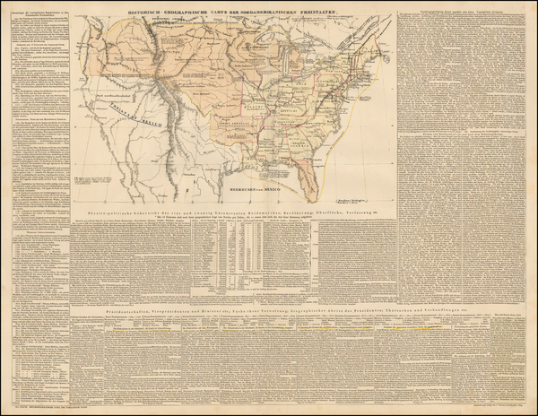 60-United States, South America and America Map By Emmanuel-Augustin-Dieudonné-Joseph comte