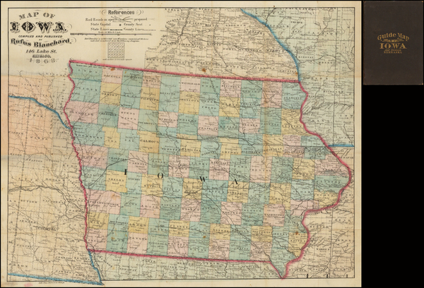 74-Iowa Map By Rufus Blanchard
