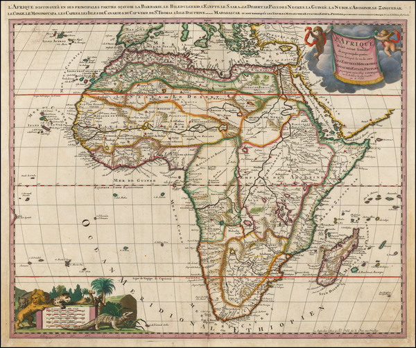 Africa and Africa Map By Gerard Valk
