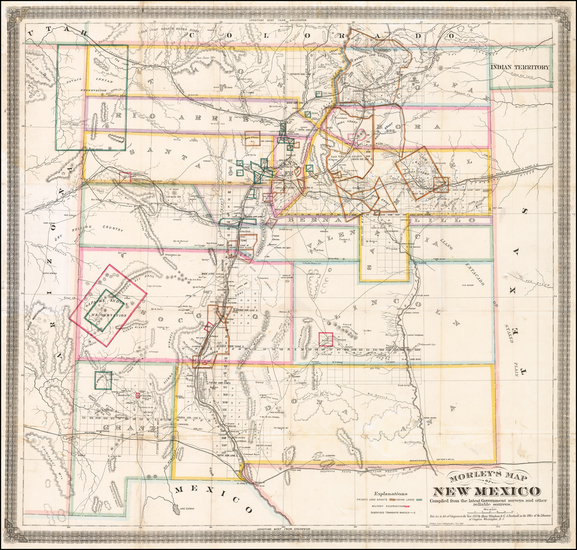 Southwest and New Mexico Map By W.R. Morley