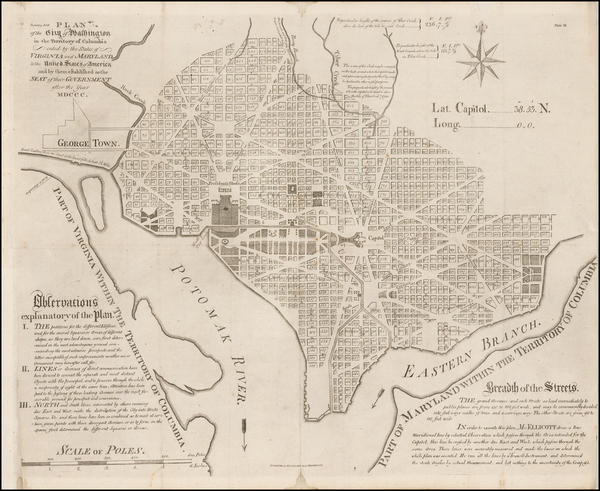 33-Washington, D.C. Map By Samuel Hill / Andrew Ellicott