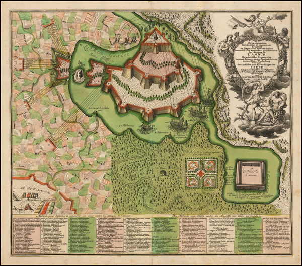 6-Curiosities Map By Matthaus Seutter