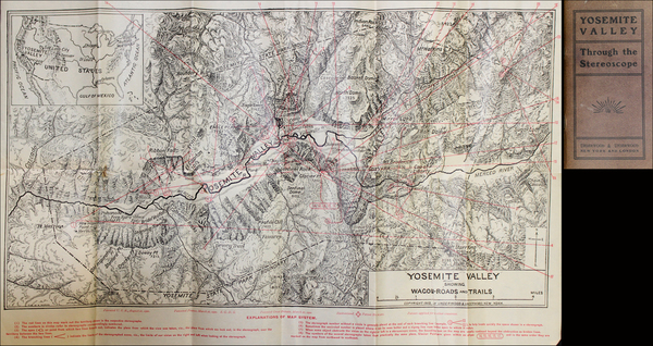 56-Yosemite Map By Charles Quincy Turner