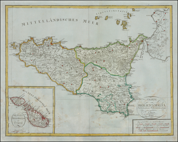 96-Italy and Balearic Islands Map By Weimar Geographische Institut