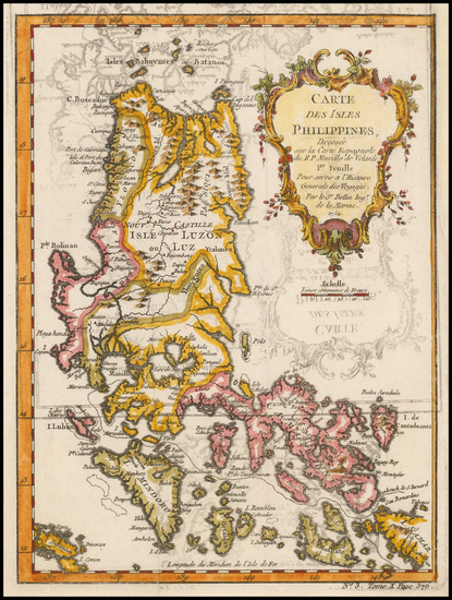 68-Philippines Map By Jacques Nicolas Bellin