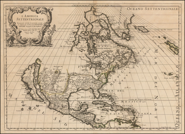 48-North America and California as an Island Map By Giacomo Giovanni Rossi