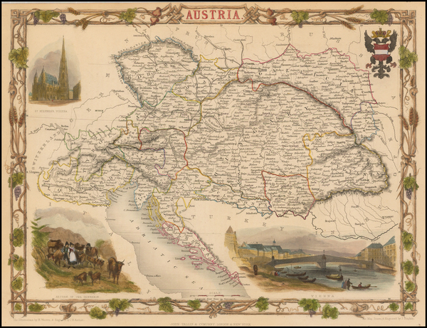 21-Austria Map By John Tallis