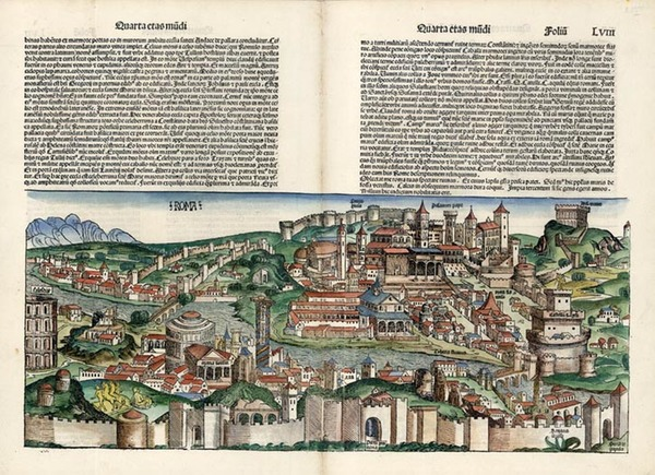 39-Europe and Italy Map By Hartmann Schedel