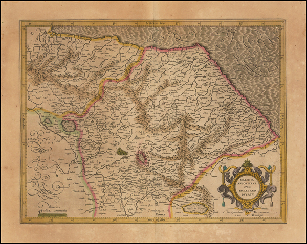 0-Northern Italy Map By  Gerard Mercator