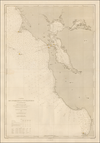 California and San Francisco Map By Depot de la Marine