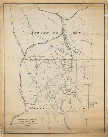 54-Arizona Map By Southern Pacific Railroad Company