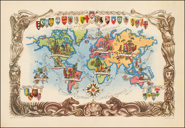32-World and Pictorial Maps Map By Jacques  Liozu