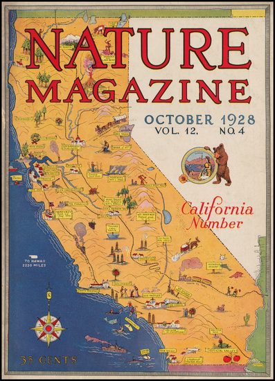 7-California Map By Garnet W. Jex