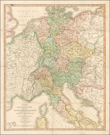 43-Europe, Switzerland, Germany, Austria and Italy Map By Charles Smith