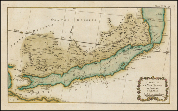 11-Middle East and Arabian Peninsula Map By Jacques Nicolas Bellin
