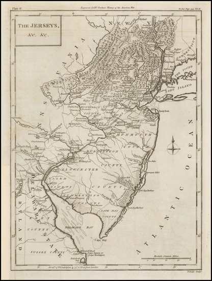 35-New Jersey and American Revolution Map By Thomas Conder