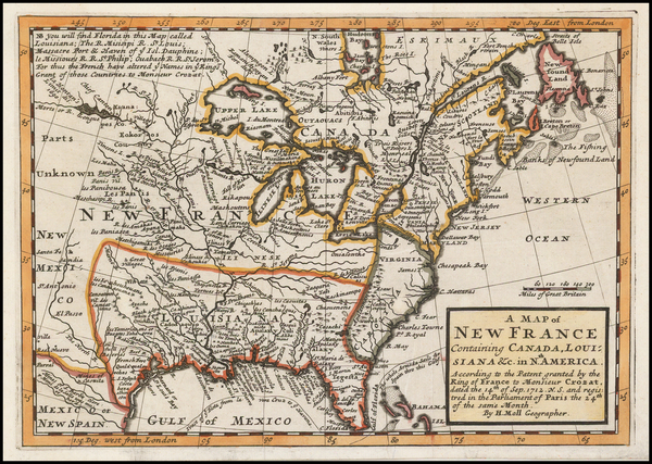 16-United States, Midwest and Plains Map By Herman Moll