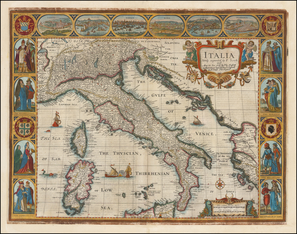 Italy Map By John Speed