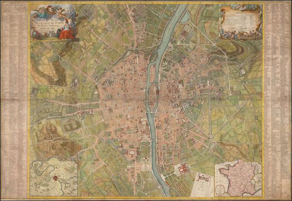81-Paris Map By Alexis-Hubert Jaillot