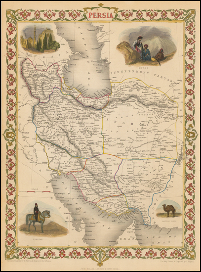 15-Central Asia & Caucasus and Middle East Map By John Tallis