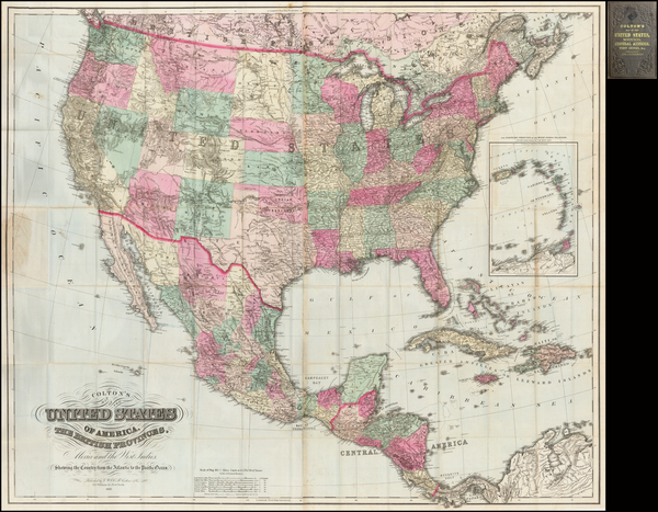 64-United States Map By G.W.  & C.B. Colton