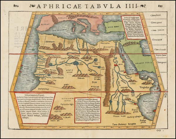 North Africa Map By Sebastian Münster