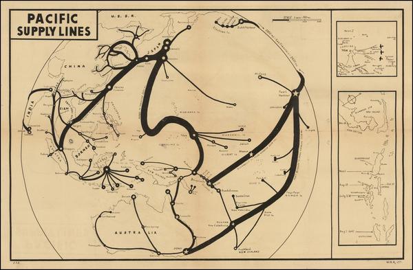36-Alaska, Hawaii, China, Southeast Asia, Philippines, Pacific, Australia and Hawaii Map By C. P.