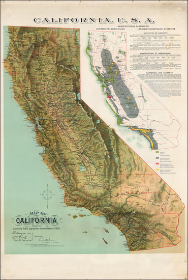 California Map By H.S. Crocker Co.