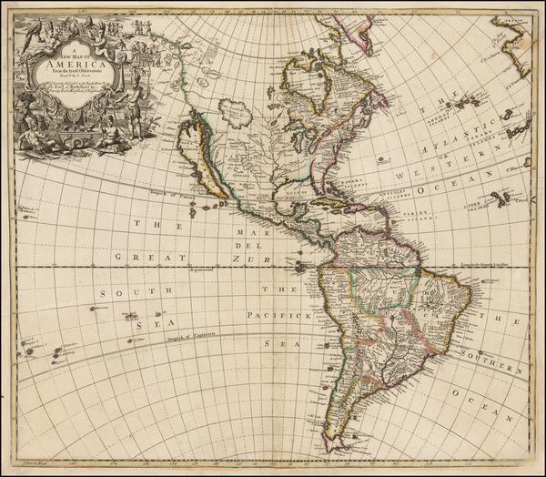 14-California as an Island and America Map By John Senex