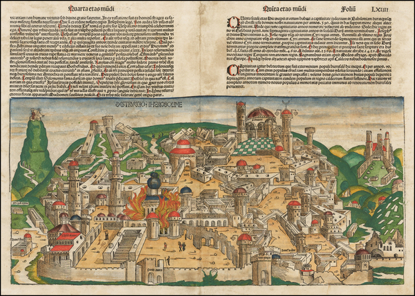56-Holy Land Map By Hartmann Schedel