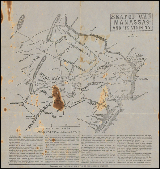 84-Virginia and Civil War Map By J. Baumgarten