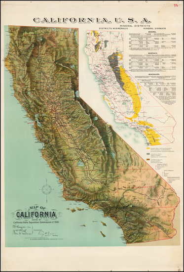 57-California Map By H.S. Crocker Co.
