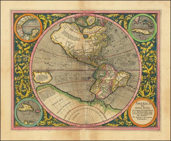 15-Western Hemisphere and America Map By Michael Mercator