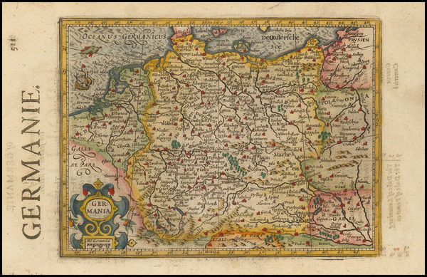 45-Netherlands, Germany, Poland and Baltic Countries Map By Jodocus Hondius / Samuel Purchas