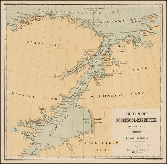 60-Polar Maps, Canada and Western Canada Map By Tijdschrift Aardrijkskundig, Genootschap