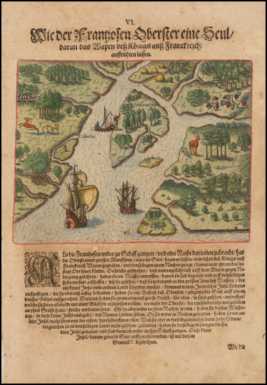 8-Florida and Southeast Map By Theodor De Bry
