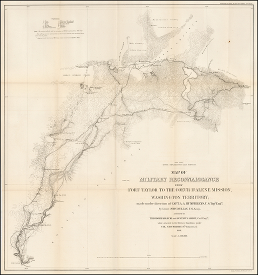 29-Idaho Map By United States Bureau of Topographical Engineers