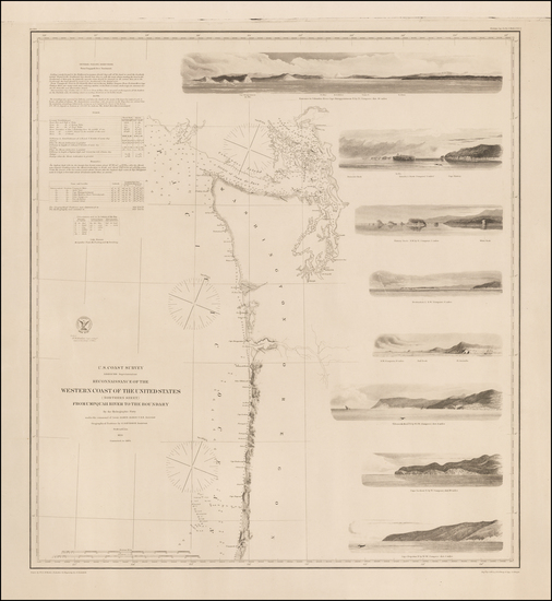 70-Oregon and Washington Map By United States Coast Survey