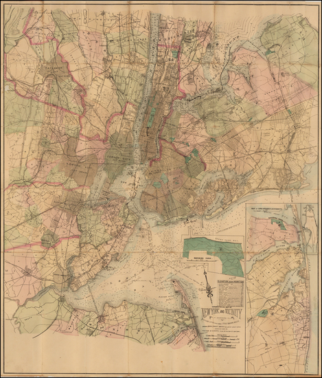 60-New York City Map By Matthew Dripps