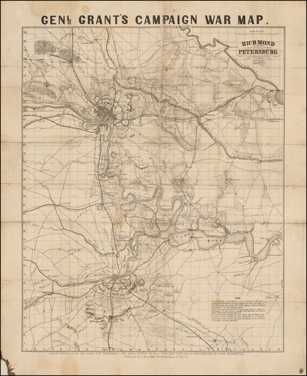 57-South and Virginia Map By J.H. Bufford