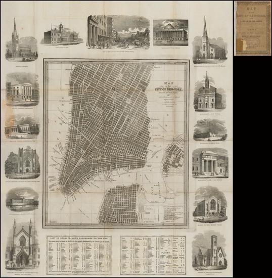 79-New York City Map By David Hugh Burr