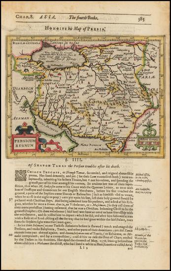 82-Persia Map By Jodocus Hondius / Samuel Purchas