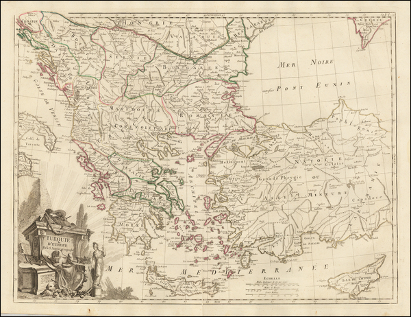 60-Romania, Balkans, Greece, Turkey and Turkey & Asia Minor Map By Paolo Santini