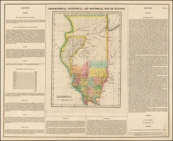 93-Midwest and Illinois Map By Henry Charles Carey  &  Isaac Lea