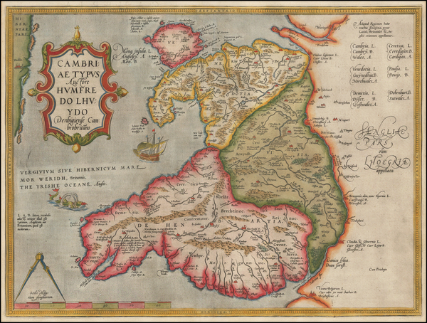 19-British Isles and Wales Map By Abraham Ortelius