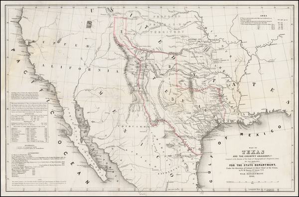 99-Texas, Southwest, Rocky Mountains and California Map By William Hemsley Emory